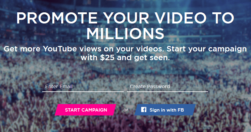 promote video views to millions